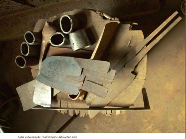 鍛冶蔵での制作模様